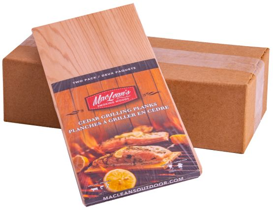 two pack cedar grilling plank on display